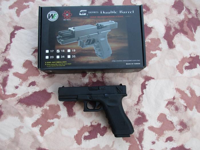 Glock 18c G18c Double Barrel Railed Frame by We - www softair-italia it