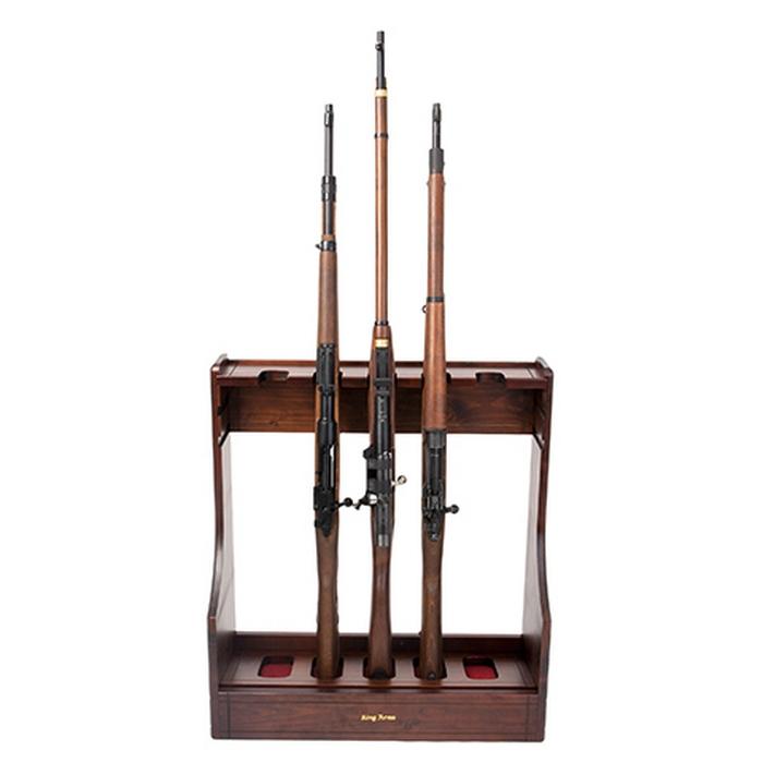 Gun rack rastrelliera in legno king arms for Rastrelliera per fucili softair