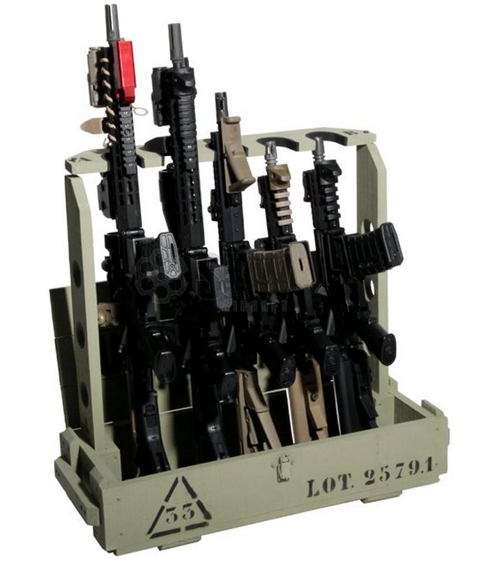 Gun rack rastrelliera per aeg asg armi vere by duel for Rastrelliera per fucili softair