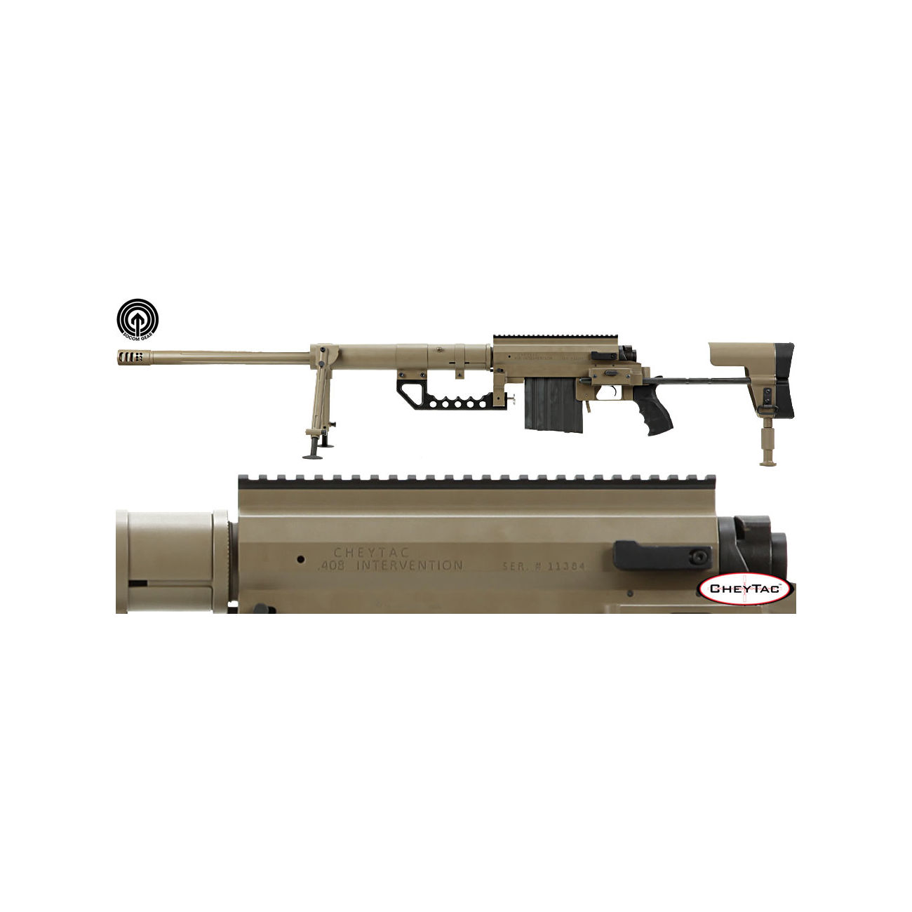 Socom Gear CheyTac M200 Intervention 8mm  Scritte e Loghi
