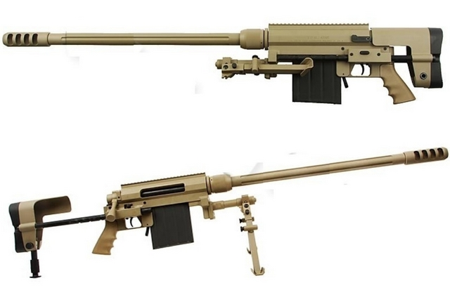 Cheytac M200 EDM in Alluminio Tan Sniper Rifle Bolt Action