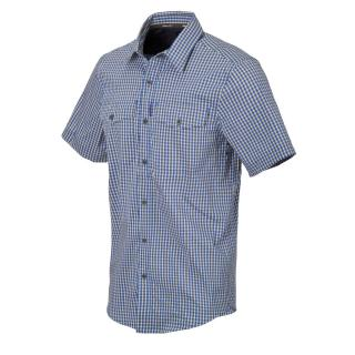 Covert Concealed Carry Short Sleeve Shirt Royal Blu Checkered by Helikon Tex