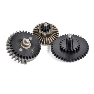 18:1 CNC Steel Original Ratio Gear Set 8 Camme by King Arms per Eagle Force