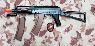 "AK74 SU BRSS Shock Recoil System Full Wood & Metal ""Luxury"" Version by Bolt Airsoft"