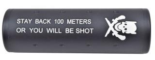 Barrel Exstension - Silencer - Silenziatore CW-CCW DX-SX 100mm. Stay Back 100 Meters or You Will Be Shot by Big Dragon