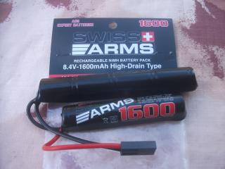 Batteria NiMH 8,4v 1600mAh Intellect per Swiss Arms