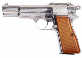 "Browning HP M1911 Military ""KIng of Nines"" Chrome 9X21 Parabellum Full Metal High Power GBB by We"