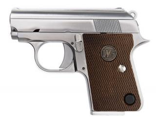 CT25 3.8 GBB Chrome - Silver Full Metal Pistol by We