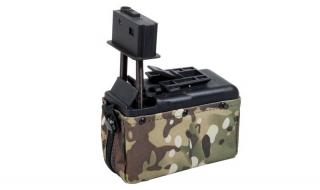 Minimi M249 1500bb Multicam Magazine Sound Control by A&K