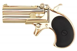 "Derringer ""Gold"" Full Metal Double Barrel 6mm. GNB by Maxtact"