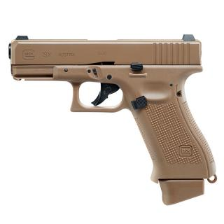 Glock 19X Coyote Tan Co2 GBB Metal Slide Scritte e Loghi Originali by Wg  x Umarex