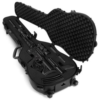 Guitar Case Single Rifle - Pistol & Accessories Black Hard Case