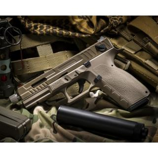 KJW KP-13F-TBC Metal Slide Co2 BlowBack TAN Semi - Full Auto by KJW