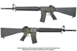 M16A3 Colt Scritte e Loghi Originali Full Metal by King Arms