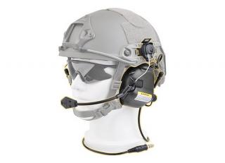 M32H Black Tactical Communication Hearing Protector for FAST MT Helmets by Opsmen