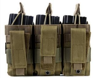 M4 - Pistol Fast Magazine Pouch OD 3Pcs by 101 Inc