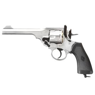 Webley MKVI .455 Service Revolver 1915 Chrome Co2 Full Metal Scritte e Loghi Originali