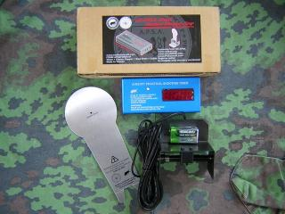 Apsa Us Airsoft Practical Shooting Timer con Bersaglio + Kit 5 Bersagli  AIPSC Popper by MadBull