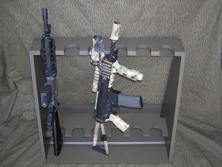 Rastrelliera guarder per asg e veri for Rastrelliera per fucili softair